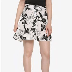NWT Butterfly print skirt nature black and white